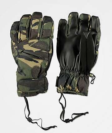 Burton Under Glove Gore-Tex guantes de snowboard de camuflaje