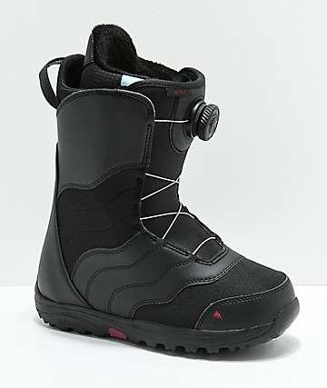 Burton Womens Mint Boa Black Snowboard Boots 2019