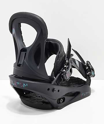 Burton Womens Stiletto Matte Black Snowboard Bindings 2019