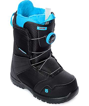 Burton Youth Zipline Black Boa Snowboard Boots