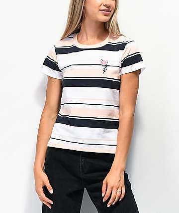 By Samii Ryan Let Me Go Pink Stripe T-Shirt