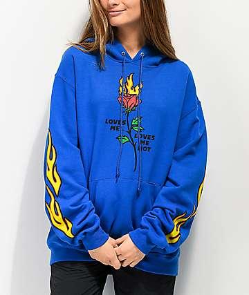By Samii Ryan Loves Me Blue Hoodie