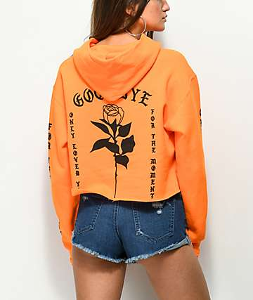 By Samii Ryan Lust Orange Crop Hoodie