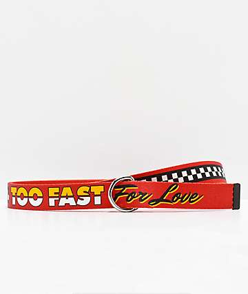By Samii Ryan Too Fast Red Web Belt