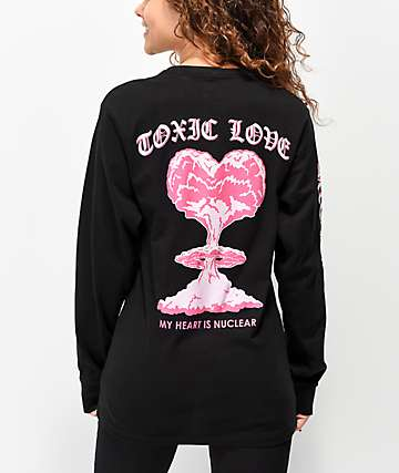 By Samii Ryan Toxic Love Black Long Sleeve T-shirt