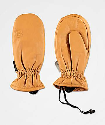 CG Habitats Game Changer Brown Leather Mittens