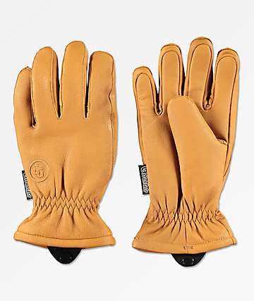 CG Habitats Game Changer Brown Leather Snowboard Gloves