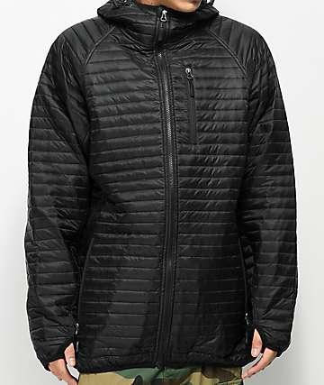 CG Habitats Sleeping Bag Puffer chaqueta negra con capucha