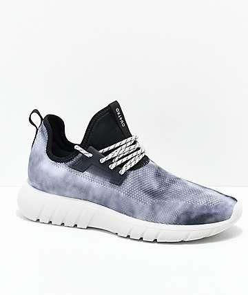 CU4TRO Bolt Black Marble Knit Shoes