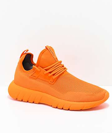 CU4TRO Bolt Caution Orange Knit Shoes
