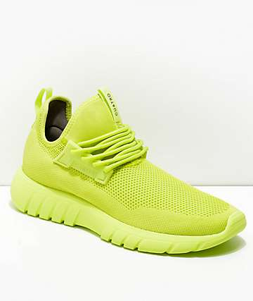 CU4TRO Bolt Lime Green Knit Shoes