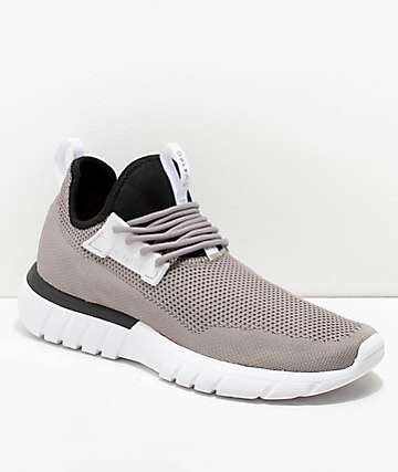 CU4TRO Bolt Smoke & Black Knit Shoes