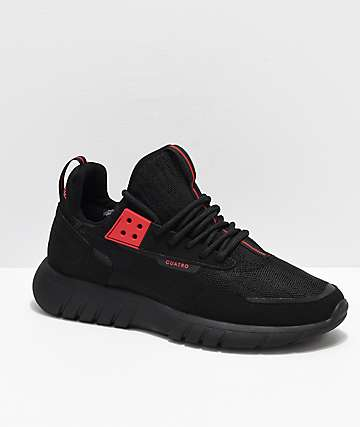 CU4TRO Striker Ben Baller Black Knit Shoes