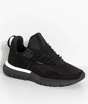CU4TRO Striker zapatos de punto negro