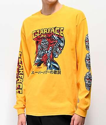 CZARFACE Comic Yellow Long Sleeve T-Shirt