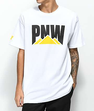 Cake Face PNW Cat White T-Shirt