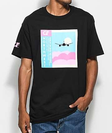 Cake Face PNW Flight School camiseta negra