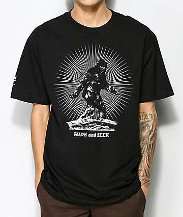 Cake Face PNW Hide N' Seek Black T-Shirt