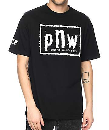 Cake Face PNW Northwest Order Black T-Shirt
