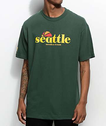Cake Face Seattle B-Ball Green T-Shirt