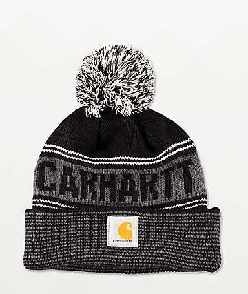 Carhartt Searchlight Black & Grey Pom Beanie