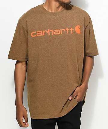 Carhartt Signature Logo camiseta marrón