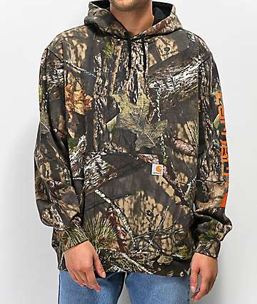 Carhartt Sleeve Logo Mossy Oak Camo Hoodie