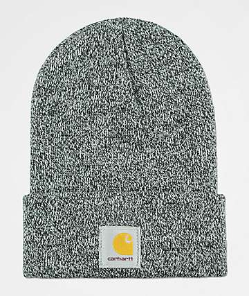 Carhartt Watch Black   White Beanie 6d4d2a6069e