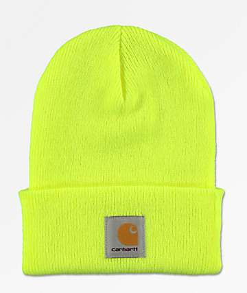 Carhartt Watch Bright Lime Cuff Beanie