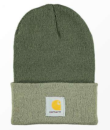Carhartt Watch Dark Green & Driftwood Cuff Beanie