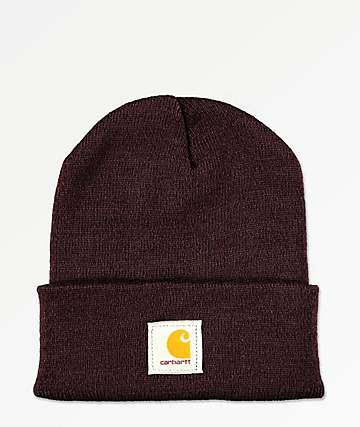 Carhartt Watch Deep Wine Beanie