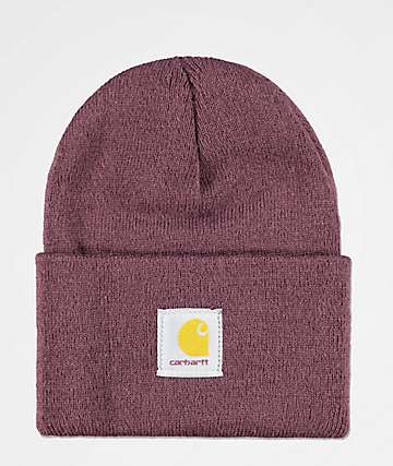 Carhartt Watch Deep Wine Fold Beanie 89fa1ce2aee