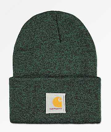 Carhartt Watch Hunter Green   Black Fold Beanie b428175613a