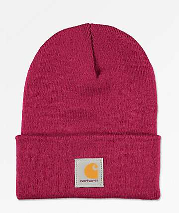Carhartt Watch Raspberry Beanie