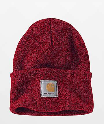 Carhartt Watch Red & Navy Beanie