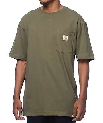 Carhartt Workwear Army Green Pocket T-Shirt