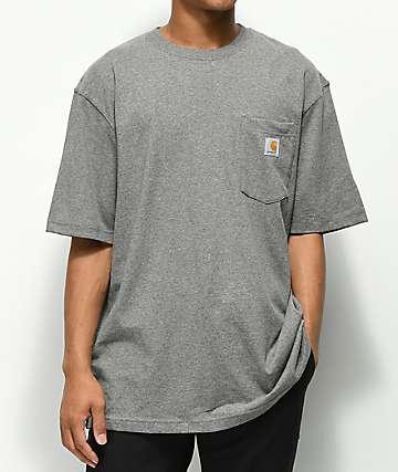 d28643cf53fc57 Carhartt Workwear Pocket Heather Grey T-Shirt