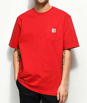 Carhartt Workwear Red Pocket T-Shirt
