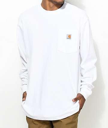 Carhartt Workwear camiseta blanca de manga larga