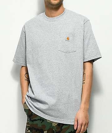 Carhartt Workwear camiseta gris con bolsillo