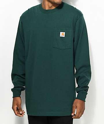 Carhartt Workwear camiseta verde de manga larga