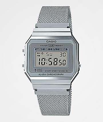 Casio A700WM-7AVT Vintage Silver Digital Watch