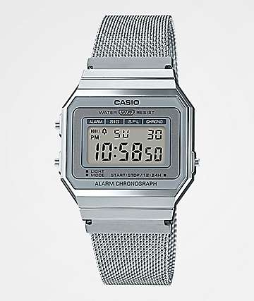 Casio A700WM-7AVT Vintage Silver Digital Watch