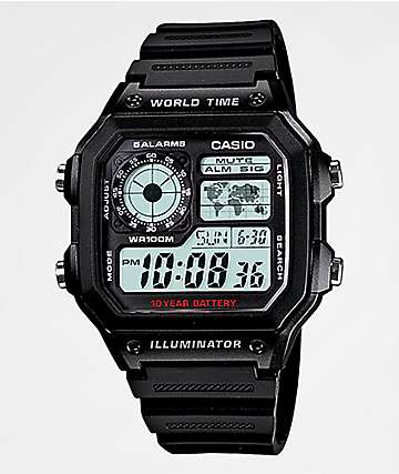 Casio AE1200 Vintage Black Digital Watch