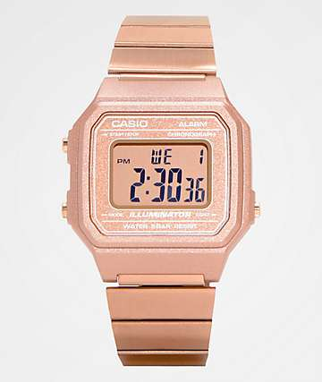 Casio B650WC-5AVT Vintage Rose Gold Digital Watch