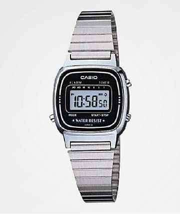 Casio LA670 Vintage Silver Digital Watch