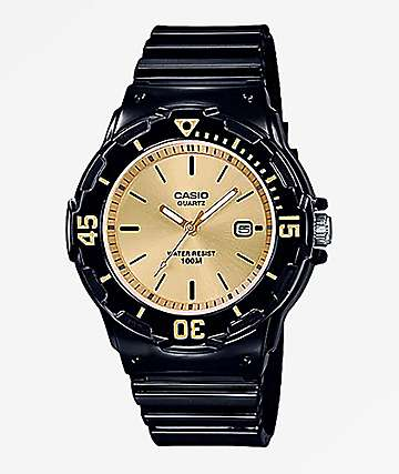 Casio LRW-200H-9EV Black & Gold Watch