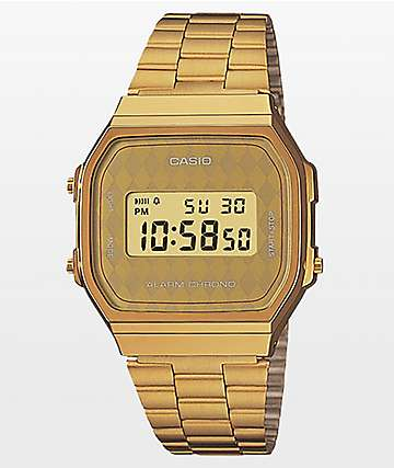 Casio Vintage Gold Diamond Face Digital Watch