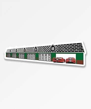 Casual Industrees 12 Car Garage Sticker