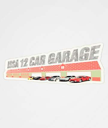 Casual Industrees 12 Car Garage Sticker